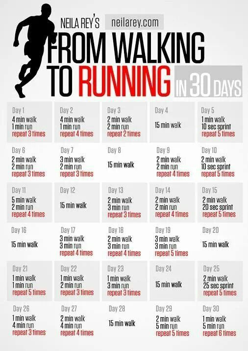 From walking to running. Going to try this!