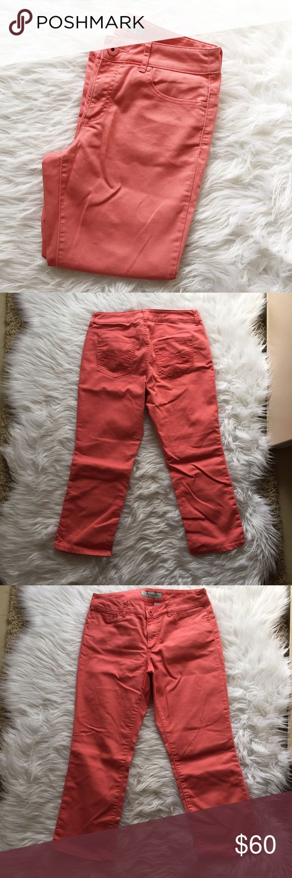Chico's Coral Capris Gorgeous Chico's Coral Capris in excellent condition. Worn once or twice. Size 0 in Chico's which is actually about a size 4. Chico's Pants Capris