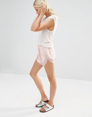 Nocozo Lace Trim Shorts