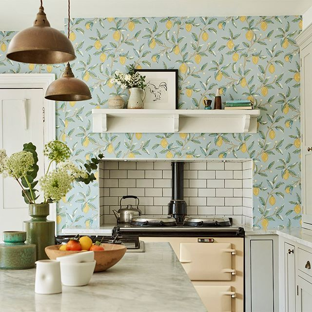 When Life Gives You Lemons This Stunning Lemon Tree Wallpaper From The New Melsetter Collection Was Inspir Kitchen Wallpaper Tree Wallpaper Morris Wallpapers