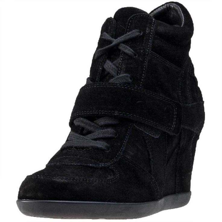 Ash Bowie Softy Womens Wedges Black Black New Shoes #Ash #Wedges
