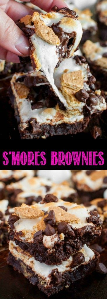 S'mores Brownies are a fudgy, ooey gooey delight! No need for a campfire to enjoy this fun twist on a summer favorite. Now you can eat s'mores all year long!