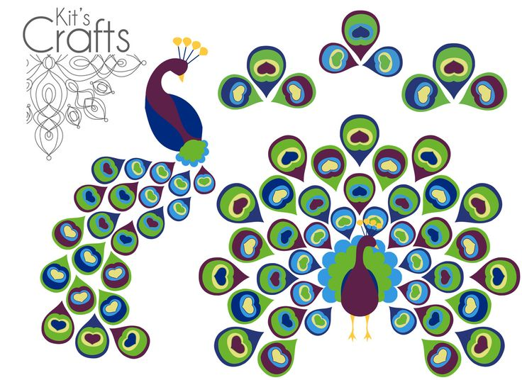 FREE peacock and stylized feather printables for DIY cards and other paper…