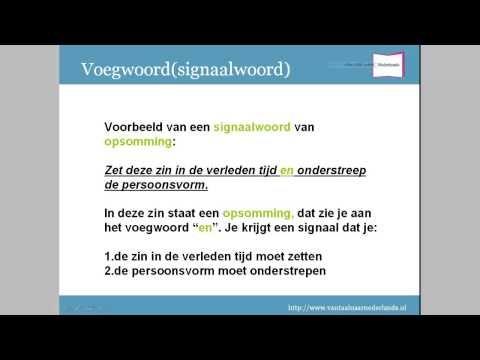 Grammatica woordsoorten: voegwoord/signaalwoord