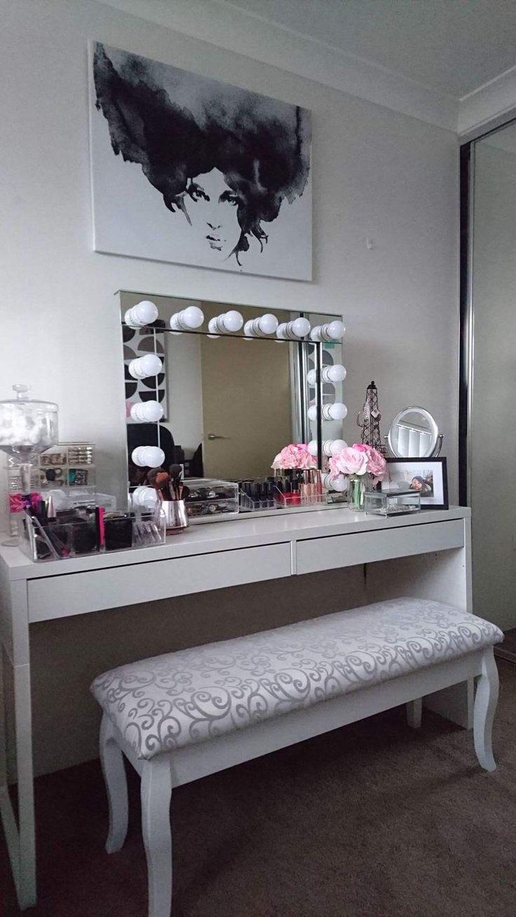 My very own DIY make up room. Hollywood mirror eBay