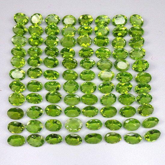 135.00 Cts/88 Pcs Untreated Finest Green Natural Peridot Wholesale Gem 8mm-9mm #GemsIndiaTopRatedPowerSeller5RatingeBay