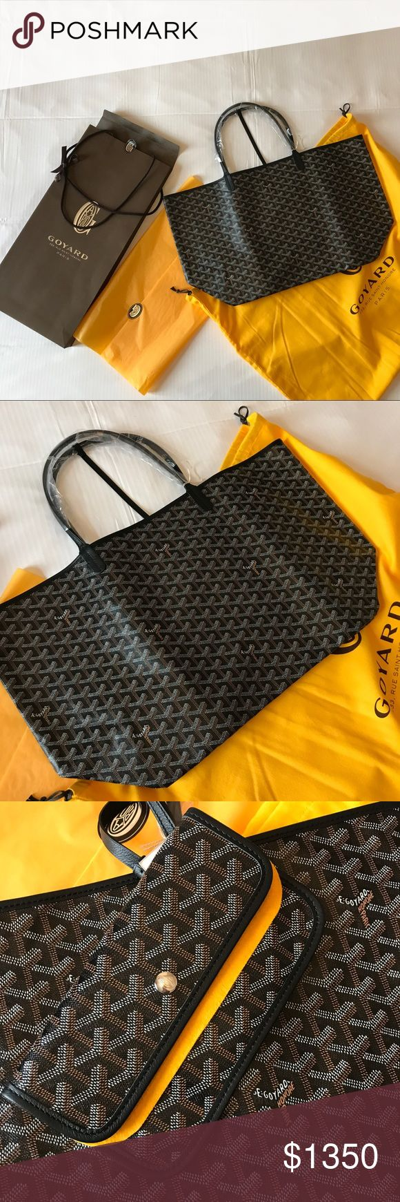 NIB Goyard Tote GM Black On Black Large Still in box, never use. Authentic bag large size. Very classic, fit everything. Will ship in a Goyard bag just like from the store. Price is firm, no trade please. I live in SF and can meet in person to reduce the price. PP will be limited to only users with some transactions in Poshmark before. Can also drop some a bit if you check M, I have the same username there. No email outside of this please. Goyard Bags Totes