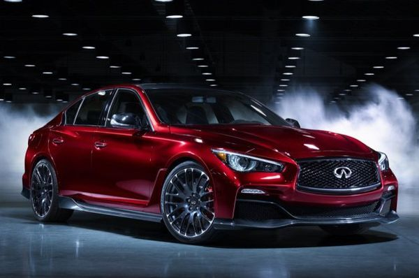 The Infiniti Q50 Eau Rouge Speeds into the Detroit Auto Show 2014 #Daytona500 #Cars