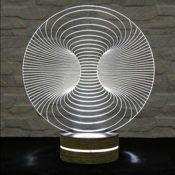 3D LED Lamp, Acrylic Lamp, Art of Light, Home Decor, Artistic Lamp, Night Light, Table Light, Office Decor, Nursery Light