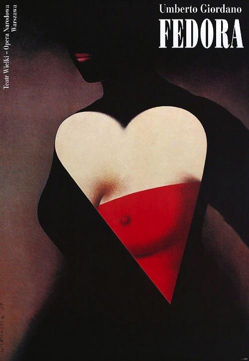 Fedora poster by Wieslaw Rosocha 1994