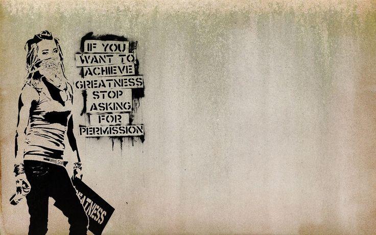 原來我們都在背離正典,悄悄擁抱被排擠的靈魂。 #Banksy