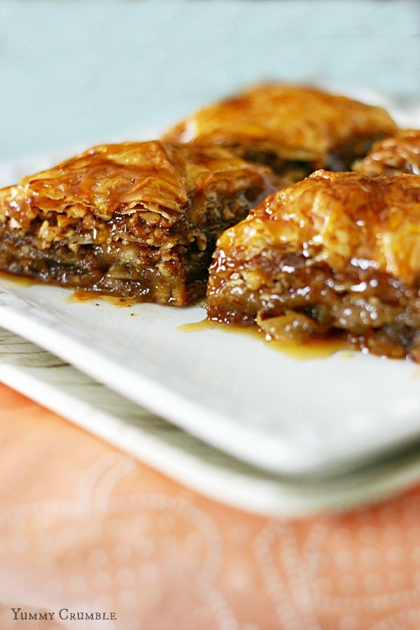 ... Phyllo Dough, Walnuts, and Apples drenched in Honey-Apple Cider Syrup