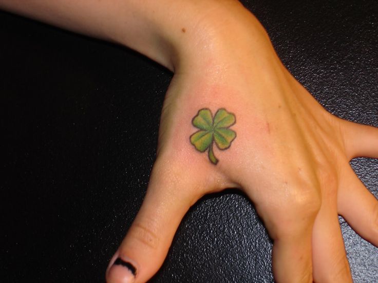 Small Four Leaf Clover Tattoo