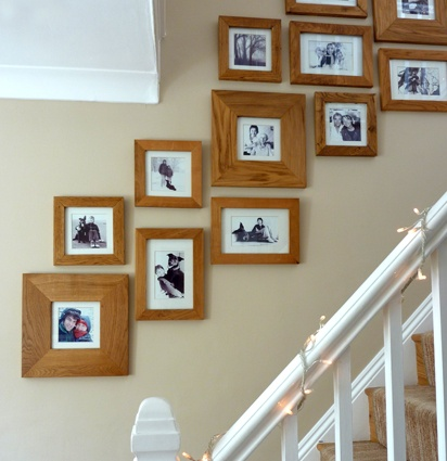 oak picture frames in the hall assorted sized oak picture frames black and white