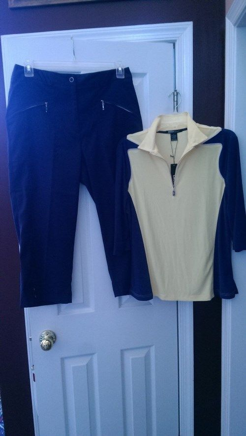 87.99$  Watch here - http://vixbe.justgood.pw/vig/item.php?t=tk80fei829 - NWT DKNY Golf by Jamie Sadock Midnight Express Navy Golf Outfit size L 12 $199 87.99$