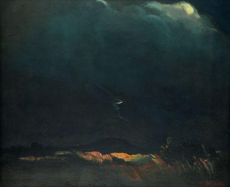Otakar Nejedlý (Czech, 1883-1957) | Nocturno | Oil on cardboard, 50 x 60 cm