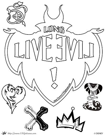 Free Disney Descendants Coloring Pages | SKGaleana
