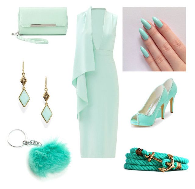 """Mint look"" by rainbowcutie1 on Polyvore featuring beauty, Cushnie Et Ochs, Charlotte Russe, Trina Turk and Kiel James Patrick"