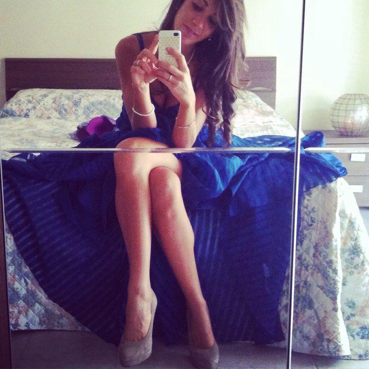 Blue dress in sweet princesse