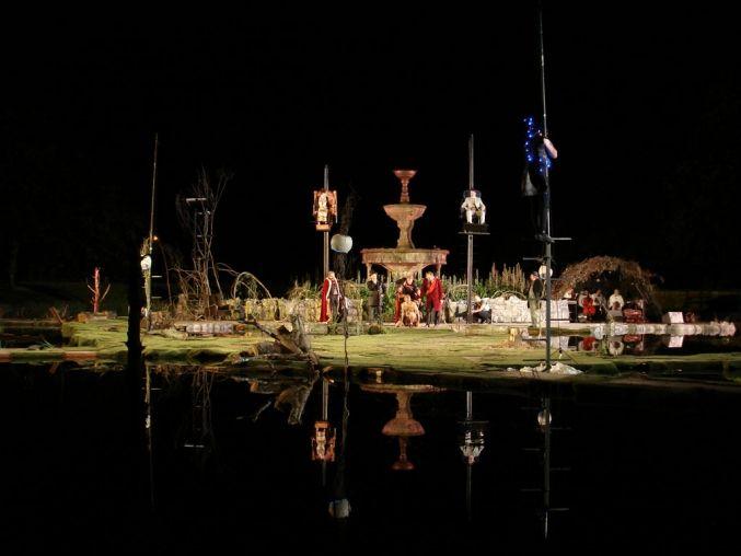 The Tempest. Corcadorca Theatre Company. Fitzgerald's Park, Cork, Ireland. Scenic design by Roma Patel. 2006