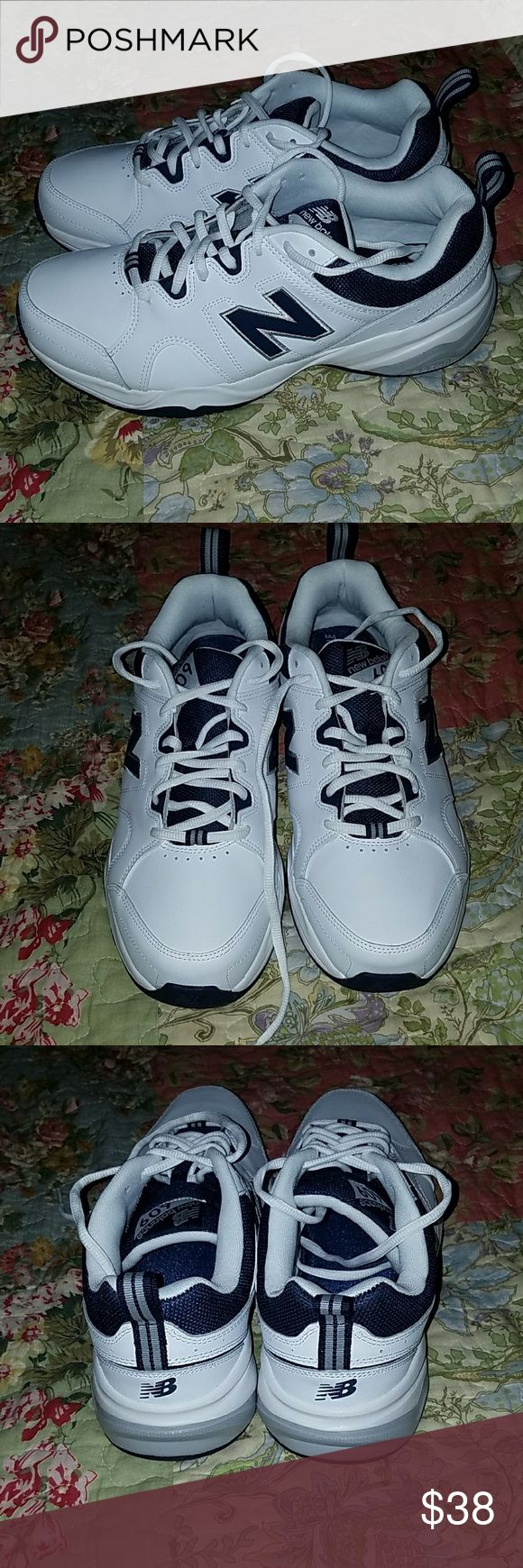 Men's New Balance NB 609 Sneakers Sz. 10 2E NEW Men's New Balance NB 609 Sneakers Sz. 10 2E NEW . These are brand new never worn. Memory sole comfort insole. White and navy New Balance Shoes Sneakers