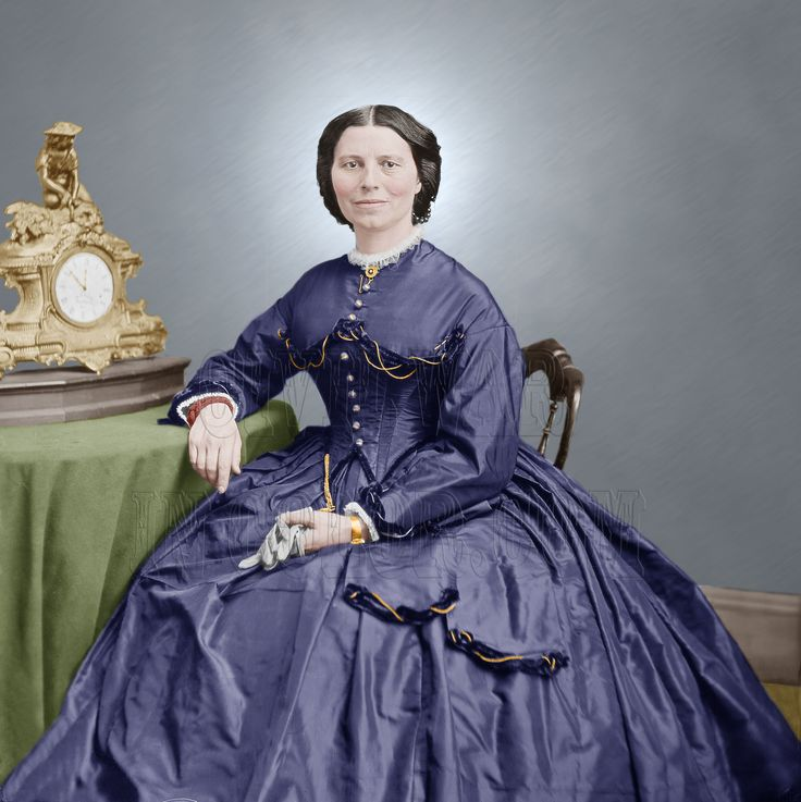 Clara Barton, Civil War nurse and founder of the Red Cross.