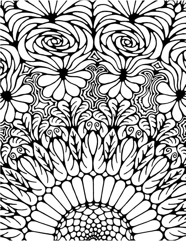 color a adult coloring page