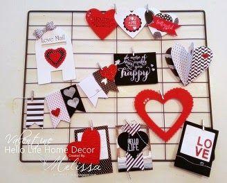 Stampin' Up! Hello Life optional Valentine kit by Melissa Davies @ rubberfunatics