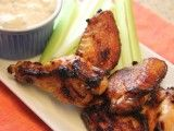 Cooking Channel serves up this Buffalo Wings with Blue Cheese Dipping Sauce recipe from Kelsey Nixon plus many other recipes at CookingChannelTV.com