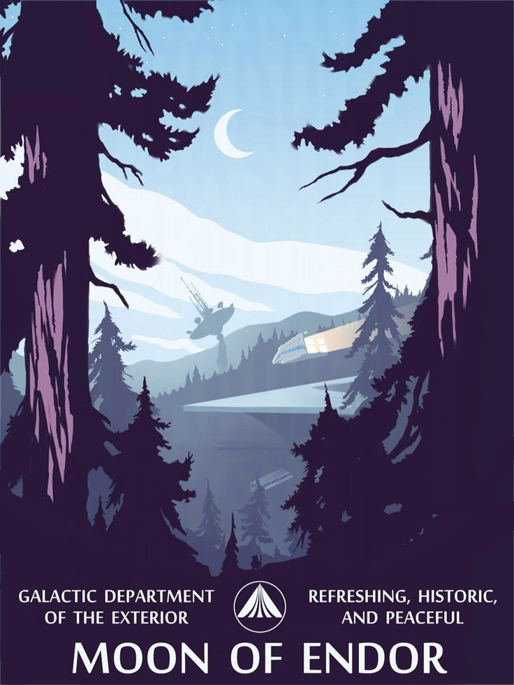 Star Tours Poster: Endor - Created by Carsten Bradley