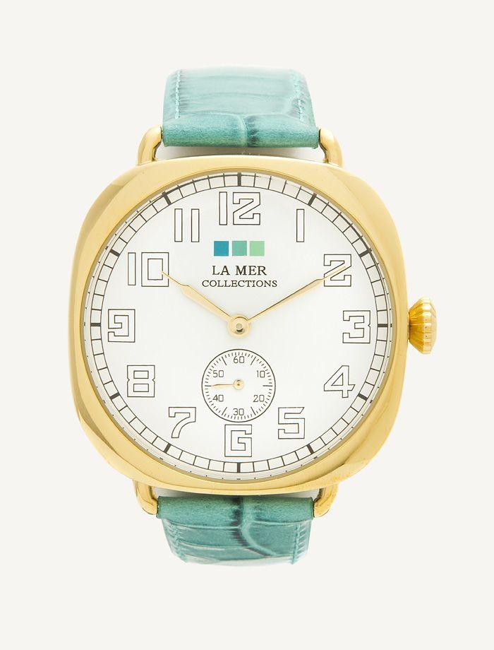 Aqua - Gold Vintage Oversize -La Mer Collections