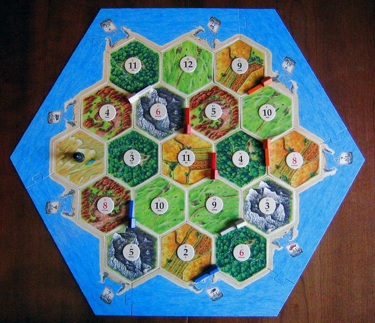 Overview Of Initial SetUp (4th Edition) Catan, Settlers