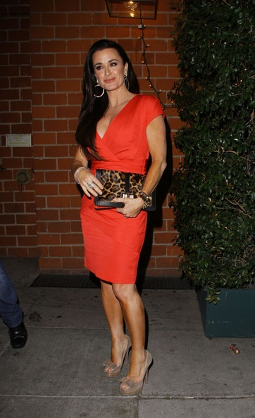 Kyle Richards arriving at restaurant Mr Chow in Hollywood