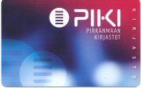 PIKI-kirjastokortti uusi ulkoasu