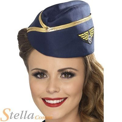 Air #hostess hat ladies stewardess aviation #costume cabin crew #fancy dress hen , View more on the LINK: http://www.zeppy.io/product/gb/2/131452922440/