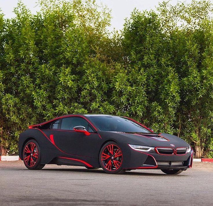 Awesome BMW I8. Red AccentsThe MapBlack ...