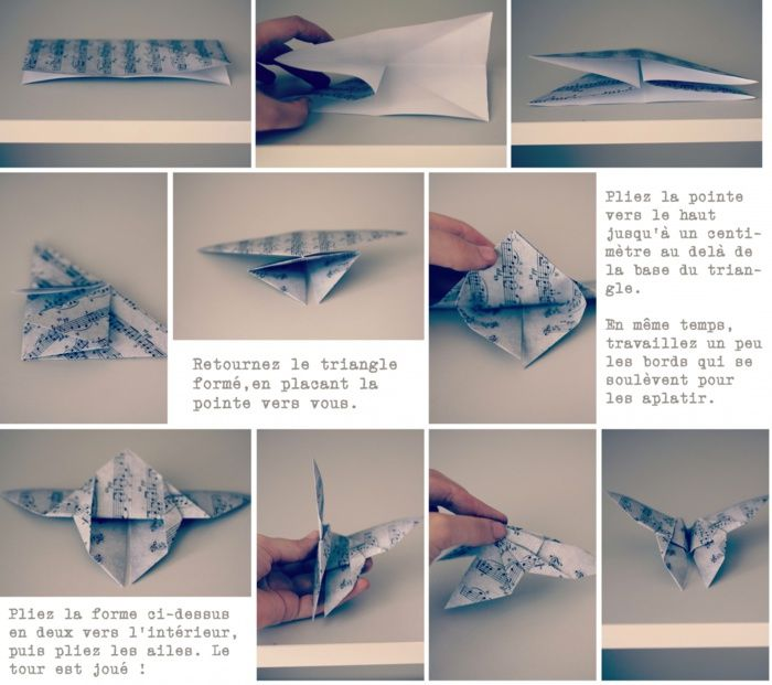 tutoriel origami papillon. Black Bedroom Furniture Sets. Home Design Ideas
