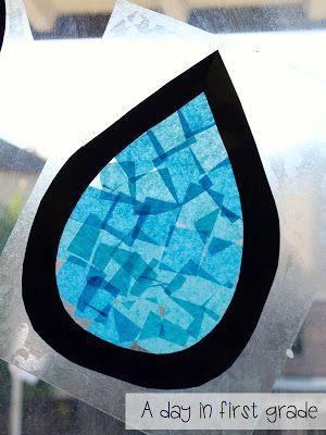 Transparantje van plakplastic en stukjes vloei of vliegerpapier. En je plakt het zo tegen het raam.