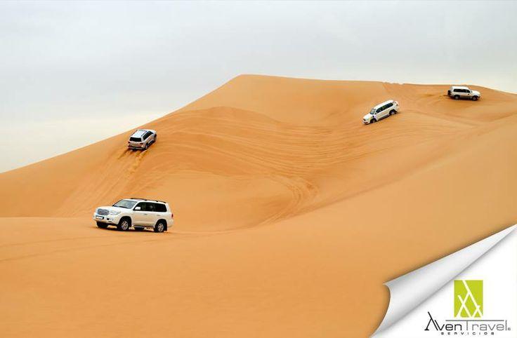 ¿Qué tal una vuelta en el desierto de Dubai? www.aventravel.com