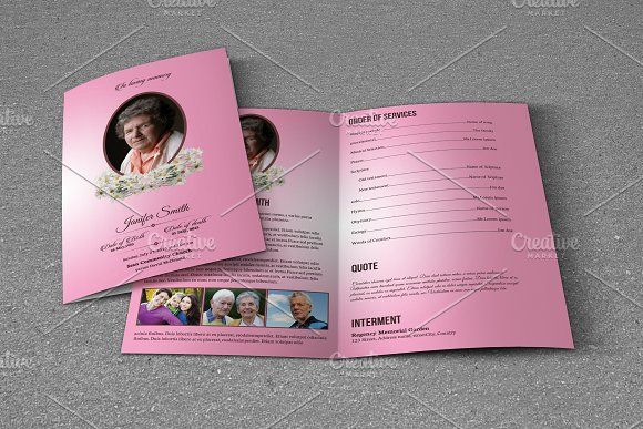Funeral Program Template-T574 by Template Shop on @creativemarket