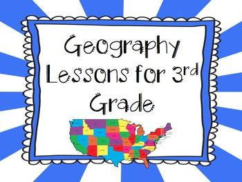 This pack includes lessons for Ohio's New Learning Standards for third grade geography. It includes lessons for the following standards: 4. Physical and political maps have distinctive characteristics and purposes. Places can be located on a map by using the title, key, alphanumeric grid and cardinal directions. (4 lessons) 5.