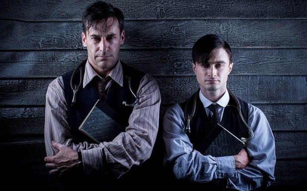 Still of Jon Hamm and Daniel Radcliffe in A Young Doctor's Notebook--- I NEED TO SEE THIS!!!!!