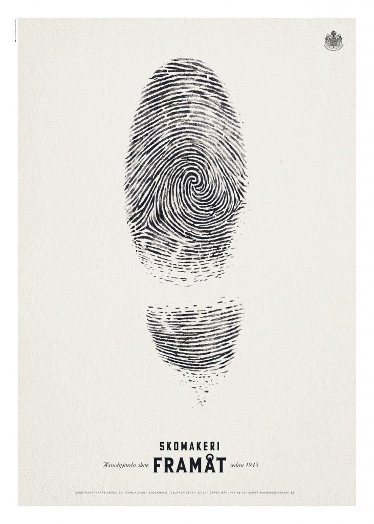 Skomakeri Framåt Fingerprint Ad #Advertising #Shoes #Fingerprint