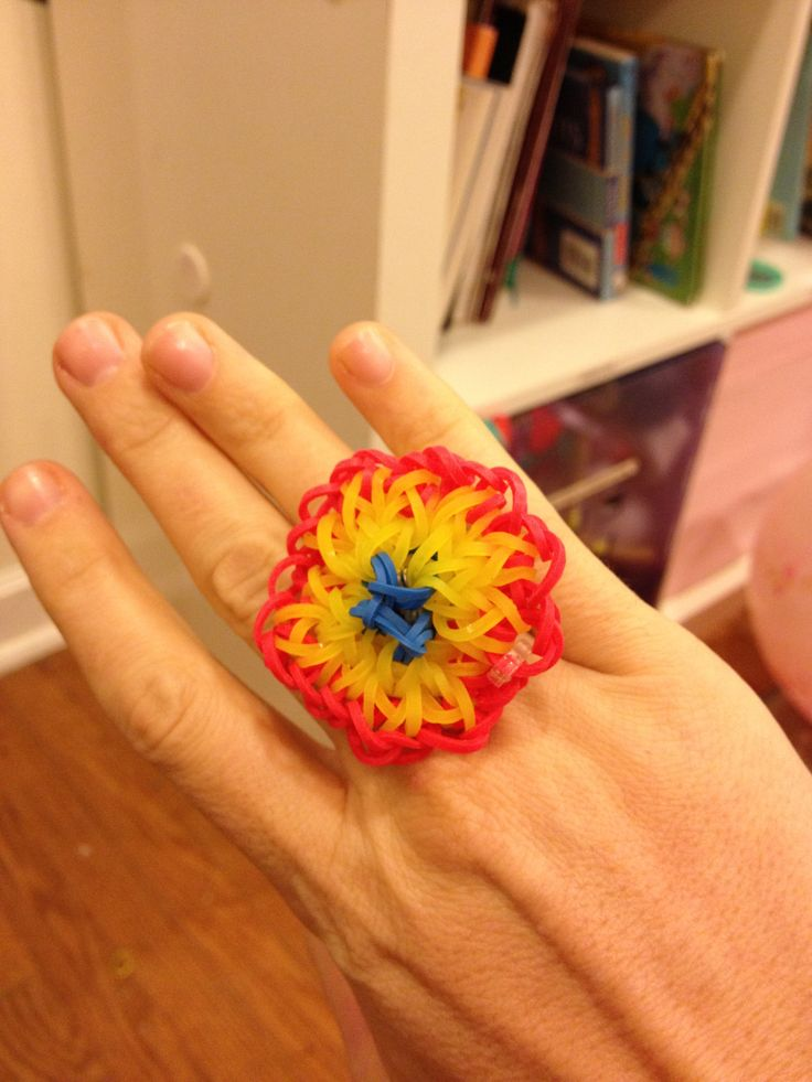 Rainbow Loom Flower Ring Crafts Pinterest Loom