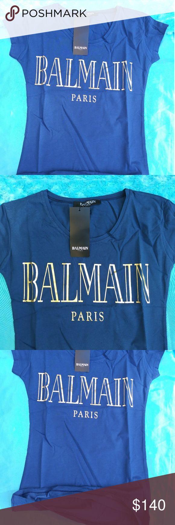 Memorial day sale BALMAIN women  tshirt Inventory 20% off Balmain exclusive women tshirt Brand new in package with tag Balmain Tops Tees - Short Sleeve