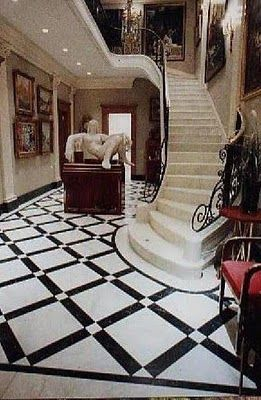 Cinema Style: A Tale of Two Crowns love this movie Thomas Crown Affair, the staircase so much a part of this movie  Adore this floor!