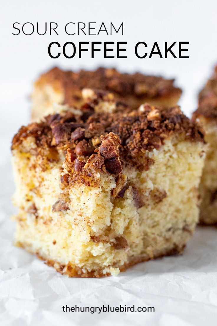 Sour Cream Coffee Cake With Pecan Brown Sugar Streusal Topping Recipe In 2020 Sour Cream Coffee Cake Coffee Cake Sour Cream
