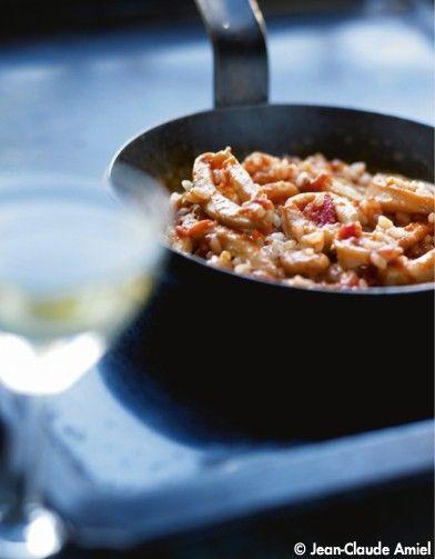 Riz à l'espagnole, calamars et vin blanc - Elle à Table