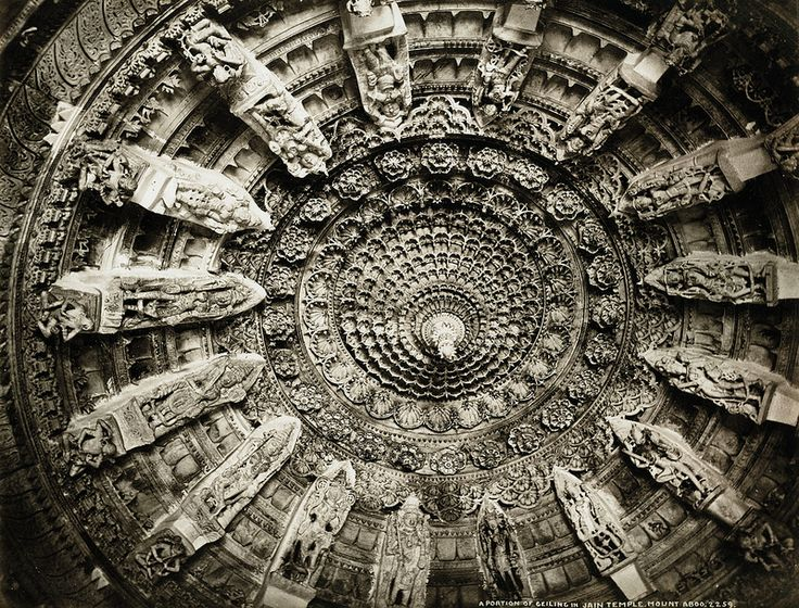 Colin Murray - A Portion of the Ceiling in Jain Temple, Mount Aboo, 1873