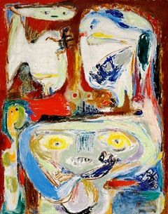 Triumphant Procession. Asger Jorn (1914-1973) as a Danish painter, sculptor, ceramic artist, and author. He was a founding member of the avant-garde movement COBRA and the Situationist International.